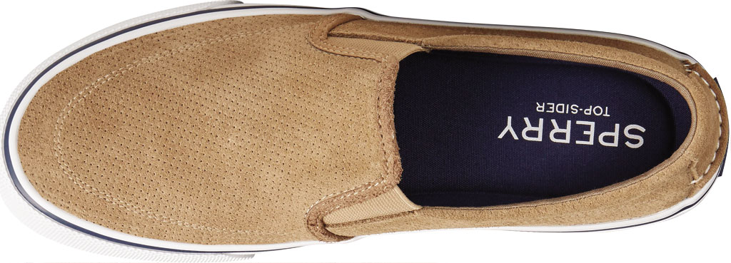 Men's Sperry Top-Sider Striper II Twin Gore Perforated Sneaker, Taupe Perforated Suede, large, image 5
