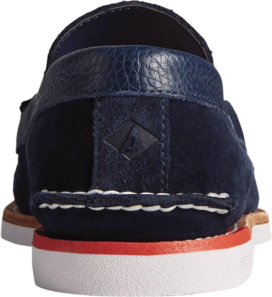 Men's Sperry Top-Sider Authentic Original Tassel Kiltie Loafer, Navy/Red Suede, large, image 4