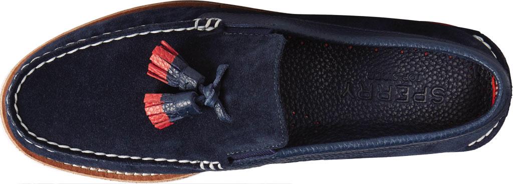 Men's Sperry Top-Sider Authentic Original Tassel Kiltie Loafer, Navy/Red Suede, large, image 5