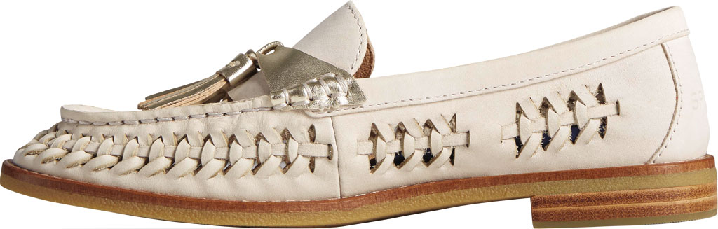 Women's Sperry Top-Sider Seaport Plushwave Woven Kiltie Loafer, Ivory Woven Leather, large, image 3