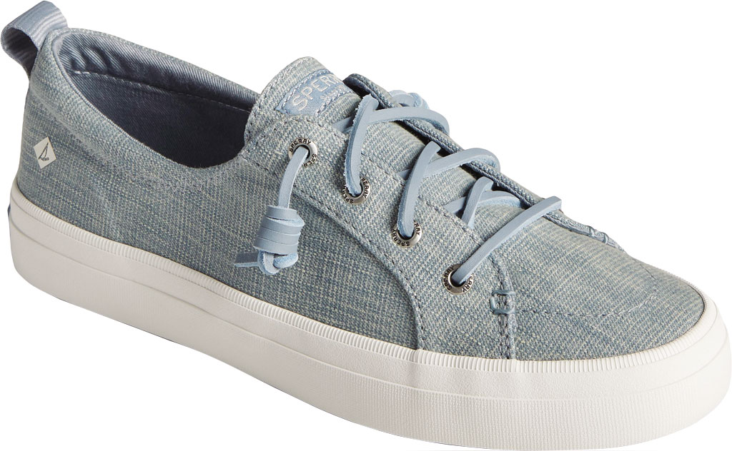 Women's Sperry Top-Sider Crest Vibe Textured Denim Sneaker, Blue Textured Denim, large, image 1