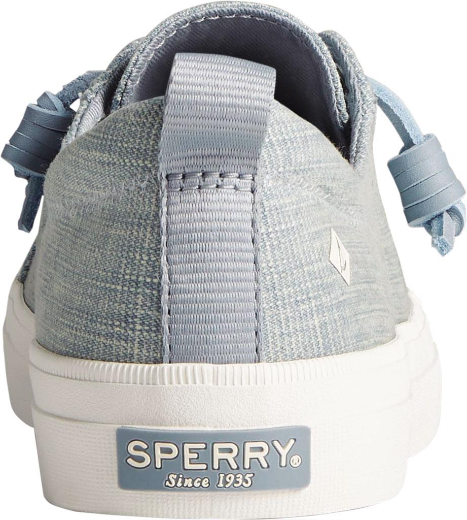 Women's Sperry Top-Sider Crest Vibe Textured Denim Sneaker, Blue Textured Denim, large, image 4