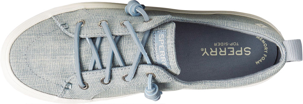 Women's Sperry Top-Sider Crest Vibe Textured Denim Sneaker, Blue Textured Denim, large, image 5