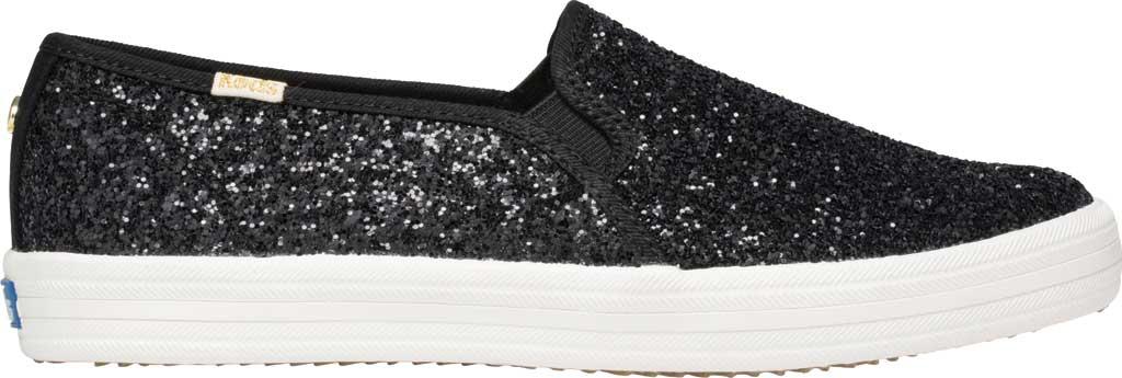 Women's Keds Kate Spade Double Decker Glitter Slip On Sneaker, Black Glitter, large, image 2