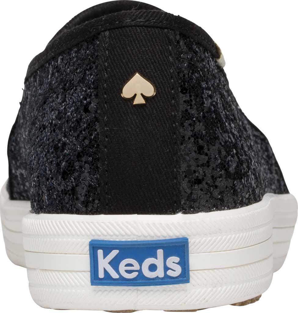 Women's Keds Kate Spade Double Decker Glitter Slip On Sneaker, Black Glitter, large, image 3