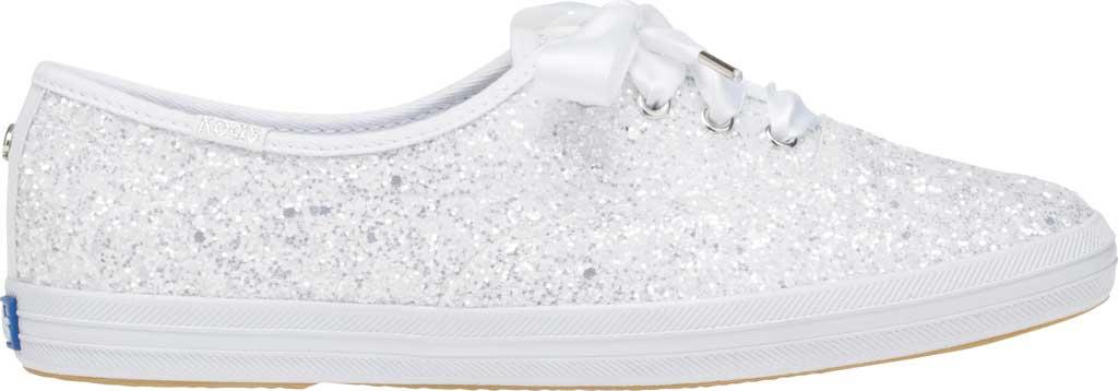 Women's Keds Kate Spade Champion Glitter Sneaker, White Canvas, large, image 2