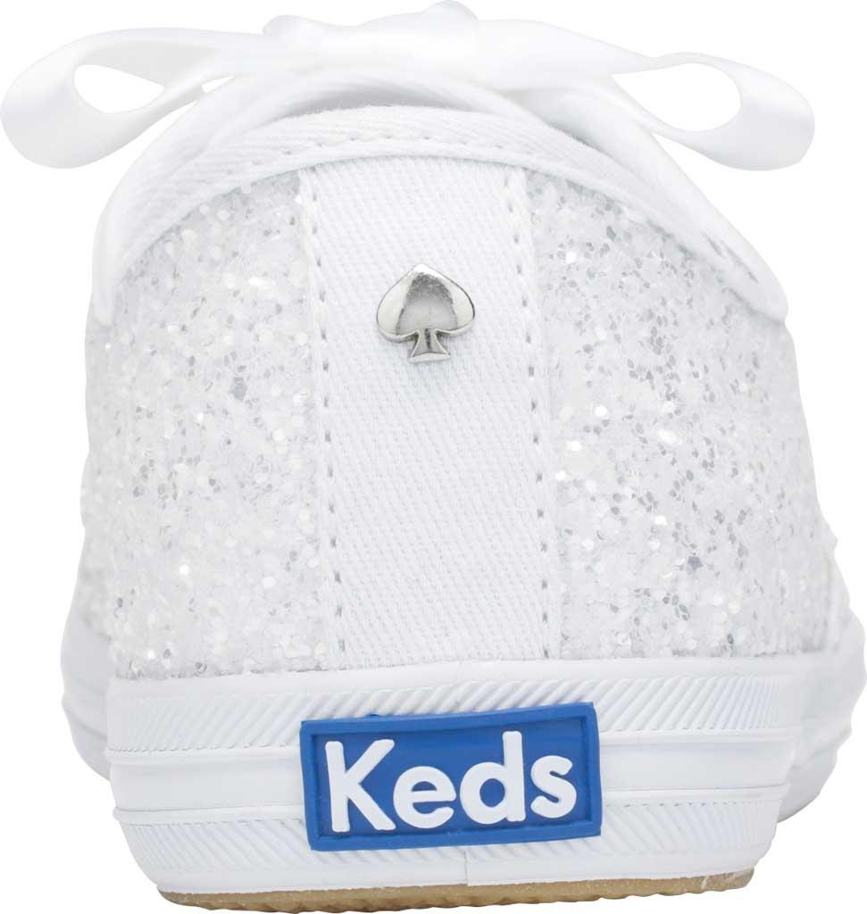 Women's Keds Kate Spade Champion Glitter Sneaker, White Canvas, large, image 3