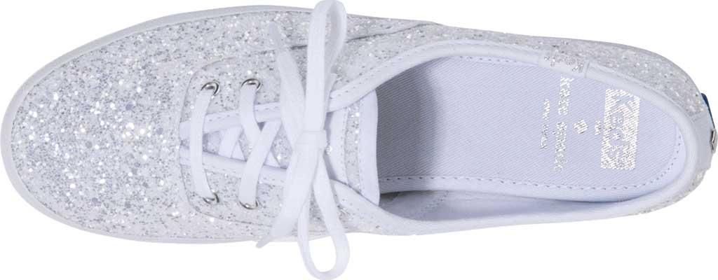 Women's Keds Kate Spade Champion Glitter Sneaker, White Canvas, large, image 4