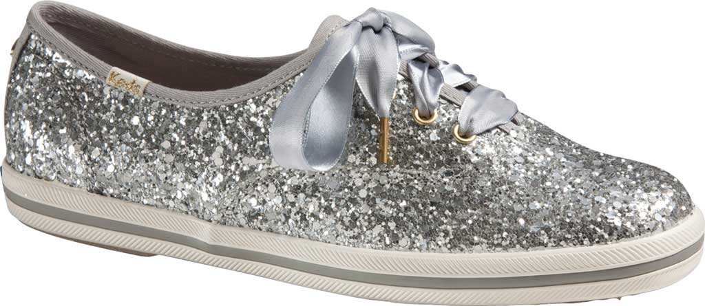 Women's Keds Kate Spade Champion Glitter Sneaker, Silver Canvas, large, image 1