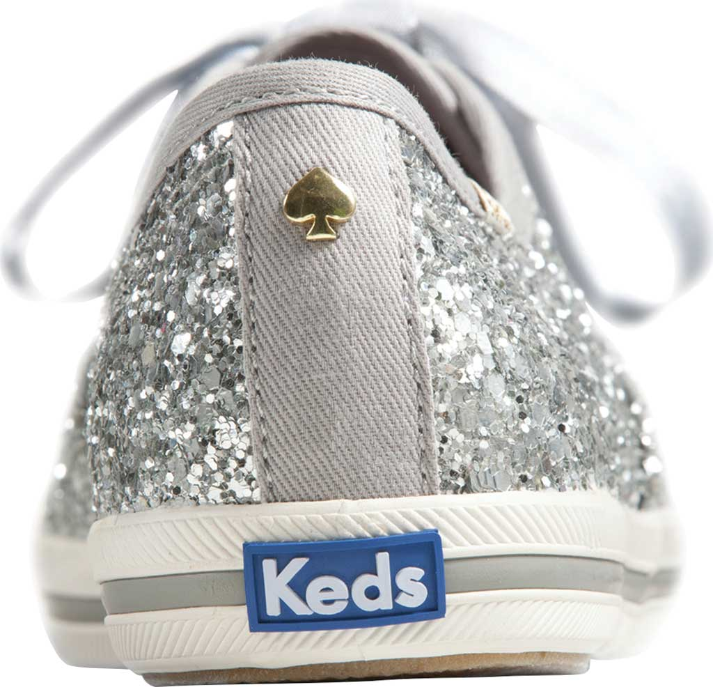 Women's Keds Kate Spade Champion Glitter Sneaker, Silver Canvas, large, image 3