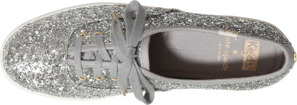 Women's Keds Kate Spade Champion Glitter Sneaker, Silver Canvas, large, image 4