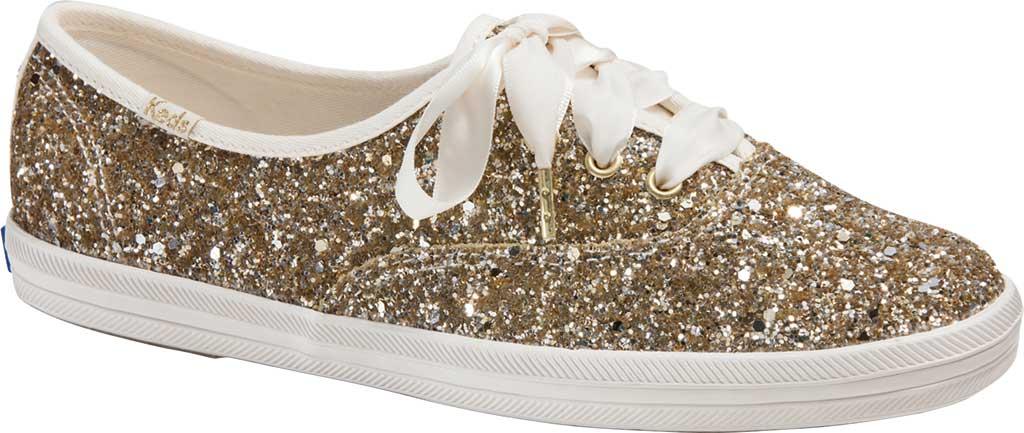 Women's Keds Kate Spade Champion Glitter Sneaker, Platinum Canvas, large, image 1