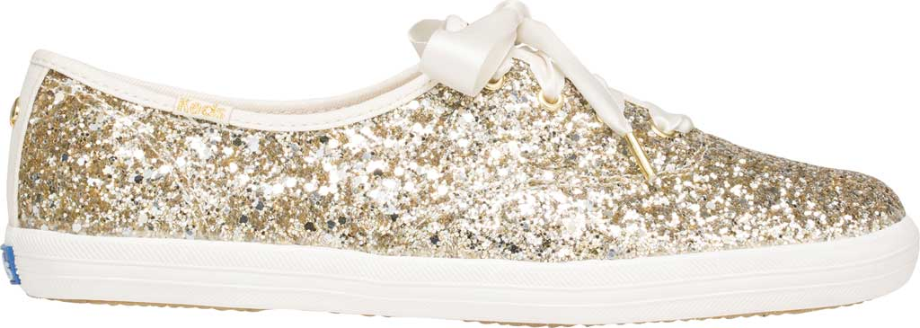 Women's Keds Kate Spade Champion Glitter Sneaker, Platinum Canvas, large, image 2