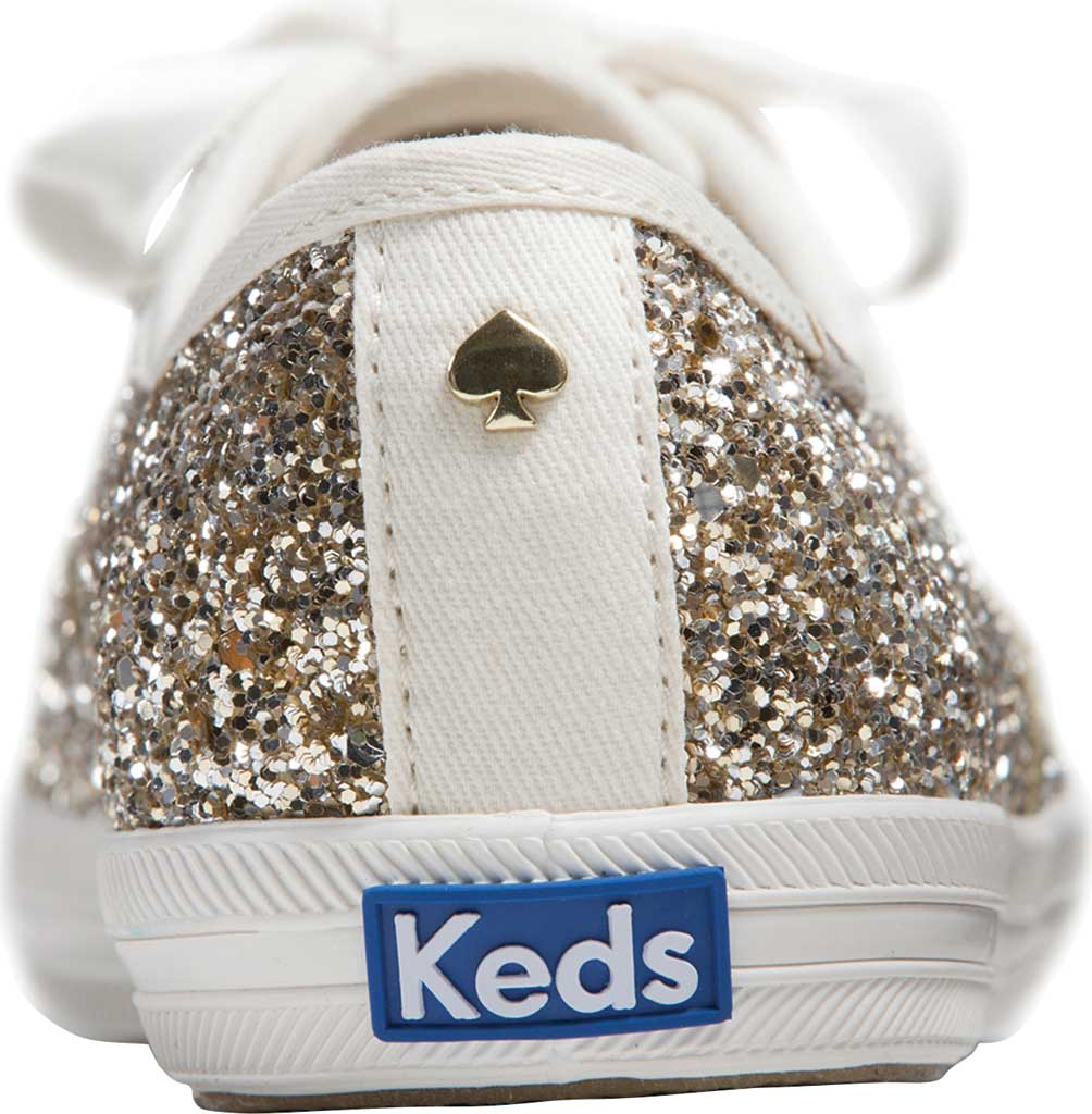 Women's Keds Kate Spade Champion Glitter Sneaker, Platinum Canvas, large, image 3