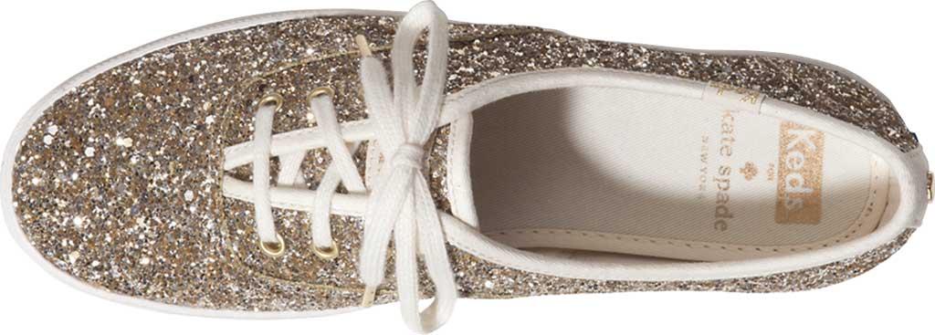 Women's Keds Kate Spade Champion Glitter Sneaker, Platinum Canvas, large, image 4