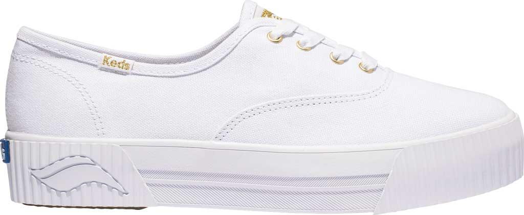 Women's Keds Triple CVO Amp Organic Cotton Platform Sneaker, White Organic Cotton, large, image 1