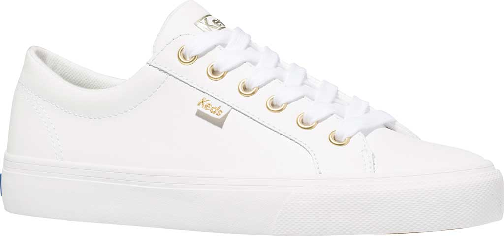 Women's Keds Jump Kick Leather Sneaker, White Leather, large, image 1