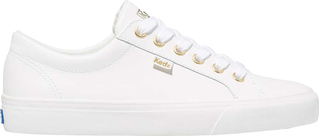 Women's Keds Jump Kick Leather Sneaker, White Leather, large, image 2
