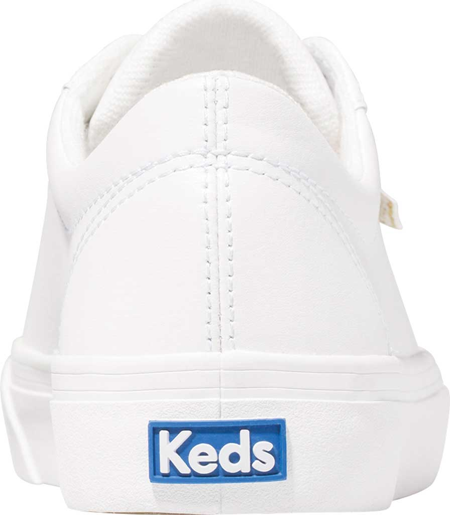 Women's Keds Jump Kick Leather Sneaker, White Leather, large, image 3