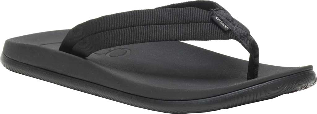 Men's Chaco Chillos Vegan Flip Flop, Tube Black, large, image 1