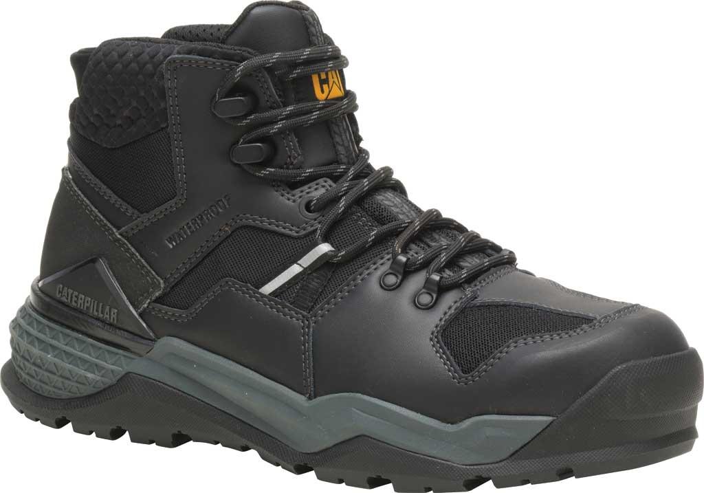 Men's Caterpillar Provoke Mid Alloy Toe Waterproof Boot, Black PU Coated Waterproof Leather, large, image 1