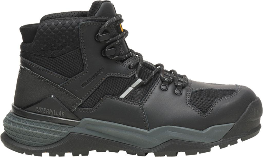 Men's Caterpillar Provoke Mid Alloy Toe Waterproof Boot, Black PU Coated Waterproof Leather, large, image 2