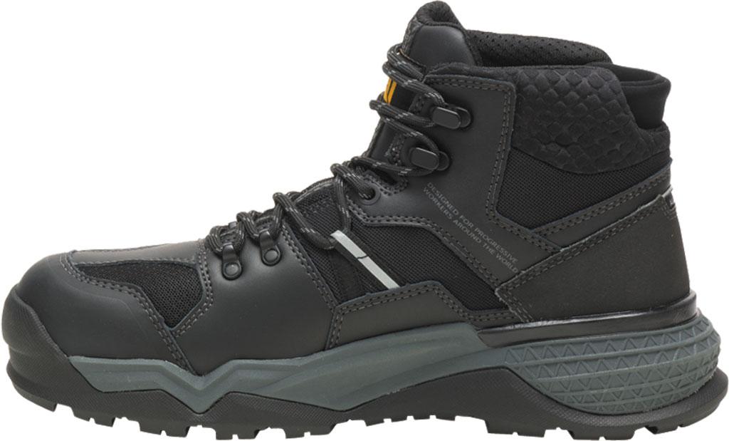 Men's Caterpillar Provoke Mid Alloy Toe Waterproof Boot, Black PU Coated Waterproof Leather, large, image 3