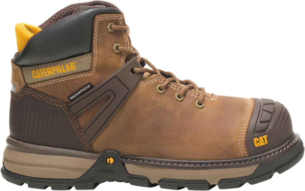 Men's Caterpillar Excavator Superlite Waterproof Boot, Dark Beige Full Grain Leather, large, image 2