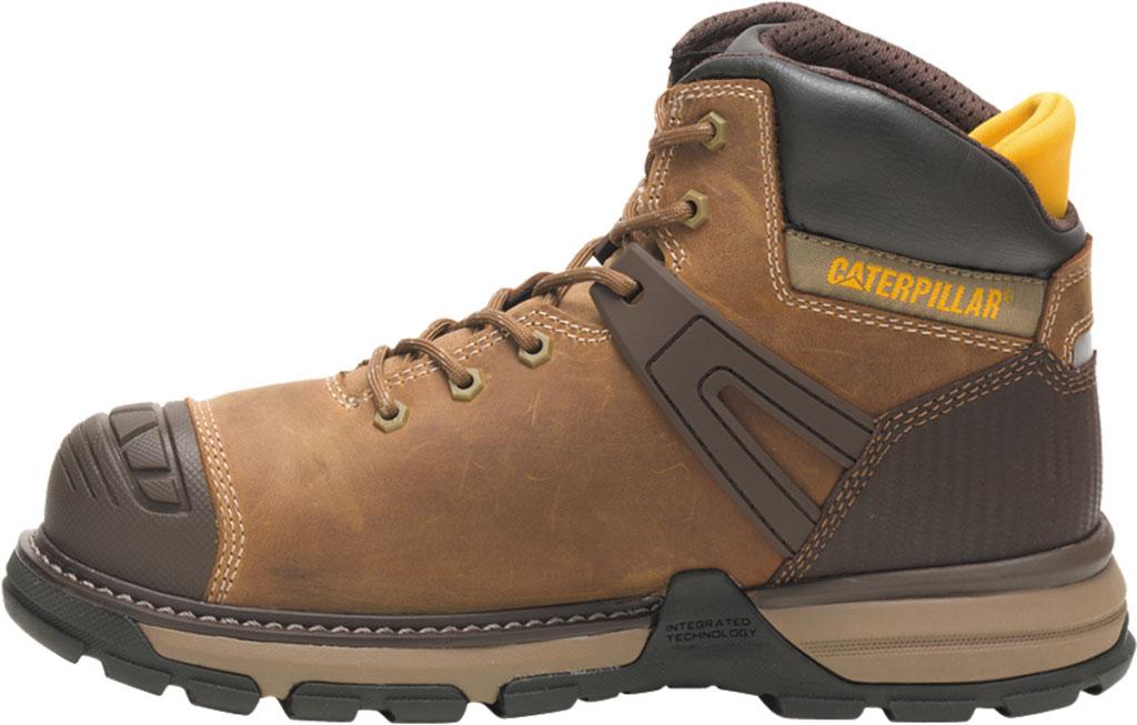 Men's Caterpillar Excavator Superlite Waterproof Boot, Dark Beige Full Grain Leather, large, image 3