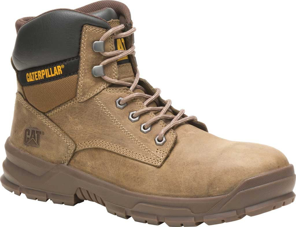Men's Caterpillar Mobilize Alloy Toe Work Boot, Fossil Leather, large, image 1