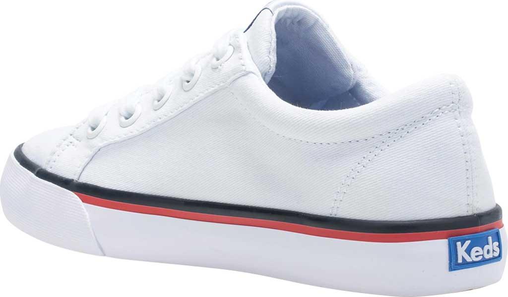 Girls' Keds Jumpkick Sneaker, White Textile, large, image 3