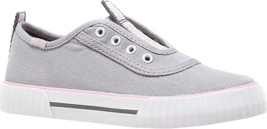 Girls' Keds Topkick Washable Slip On Sneaker, Grey Textile, large, image 1