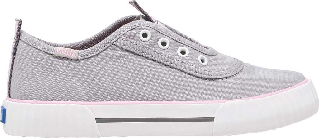 Girls' Keds Topkick Washable Slip On Sneaker, Grey Textile, large, image 2
