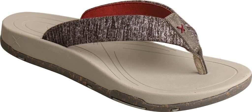 Women's Twisted X WSD0037 Flip Flop, Dark Grey Wool, large, image 1