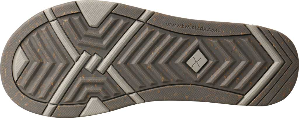 Women's Twisted X WSD0037 Flip Flop, Dark Grey Wool, large, image 6