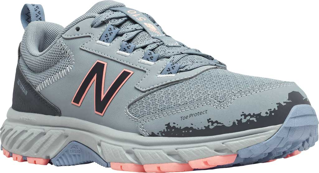 Women's New Balance 510v5 Trail Running Shoe, Cyclone/Outer Space/Stellar Blue/Paradise Pink, large, image 1