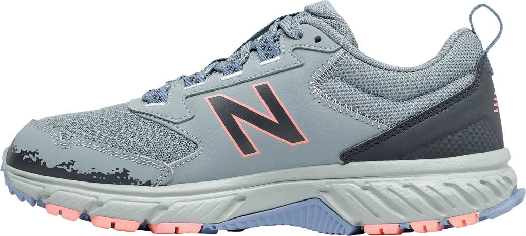 Women's New Balance 510v5 Trail Running Shoe, Cyclone/Outer Space/Stellar Blue/Paradise Pink, large, image 3