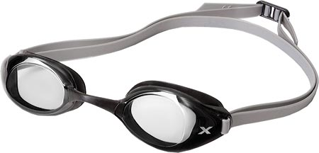 2XU Stealth Clear Goggle, Black/Silver, large, image 1