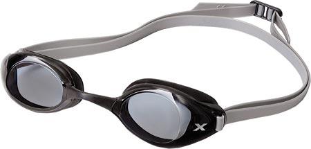 2XU Stealth Smoke Goggle, Black/Silver, large, image 1
