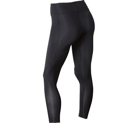 Women's 2XU Mid-Rise Compression Tight, Black/Dotted Black Logo, large, image 2