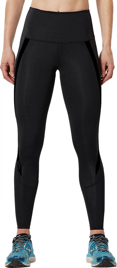 Women's 2XU Hi-Rise Compression Tight, Black/Nero, large, image 1