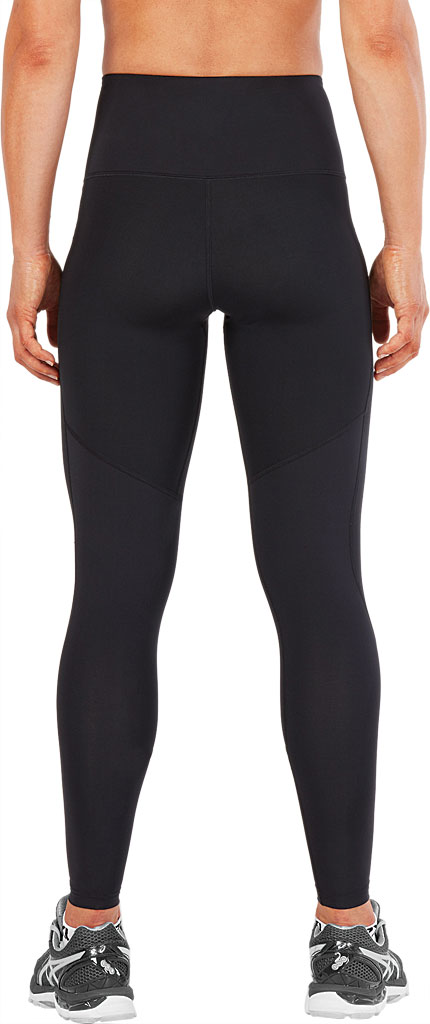 Women's 2XU Hi-Rise Compression Tight, Black/Nero, large, image 2
