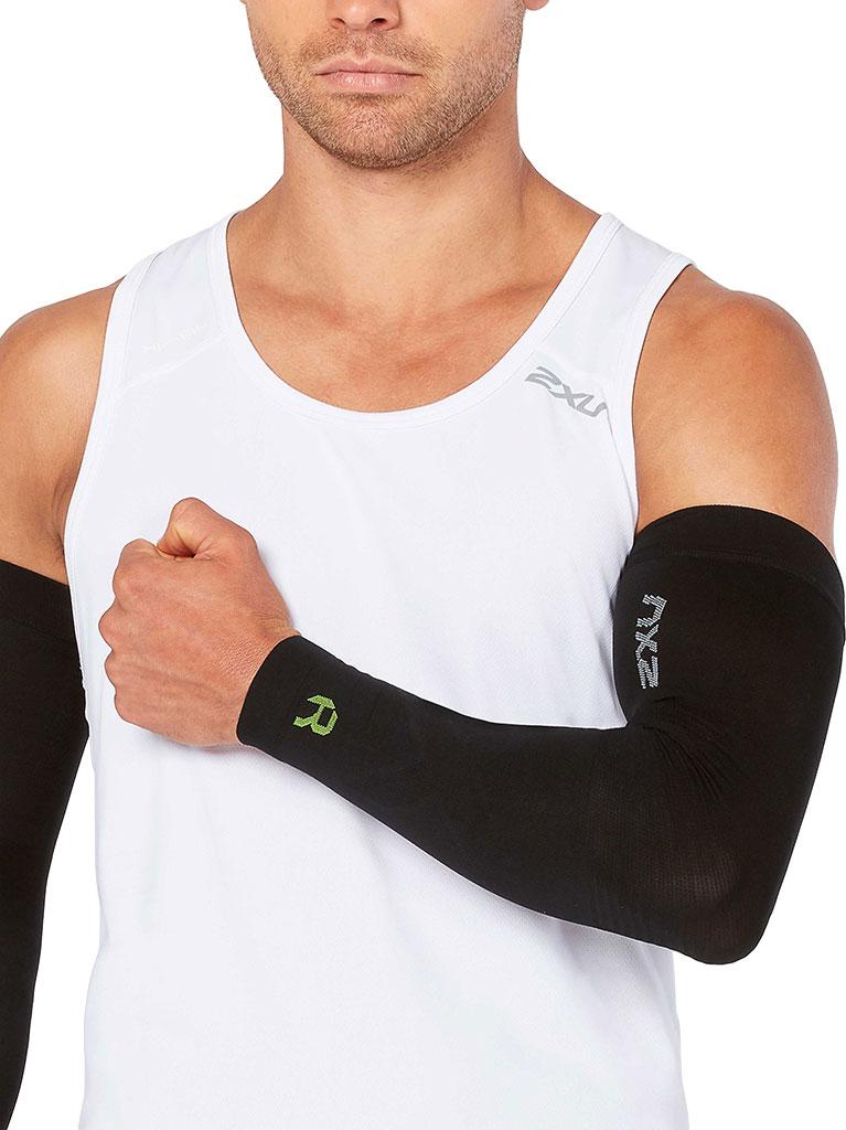 2XU Recovery Flex Arm Sleeve, Black/Nero, large, image 3