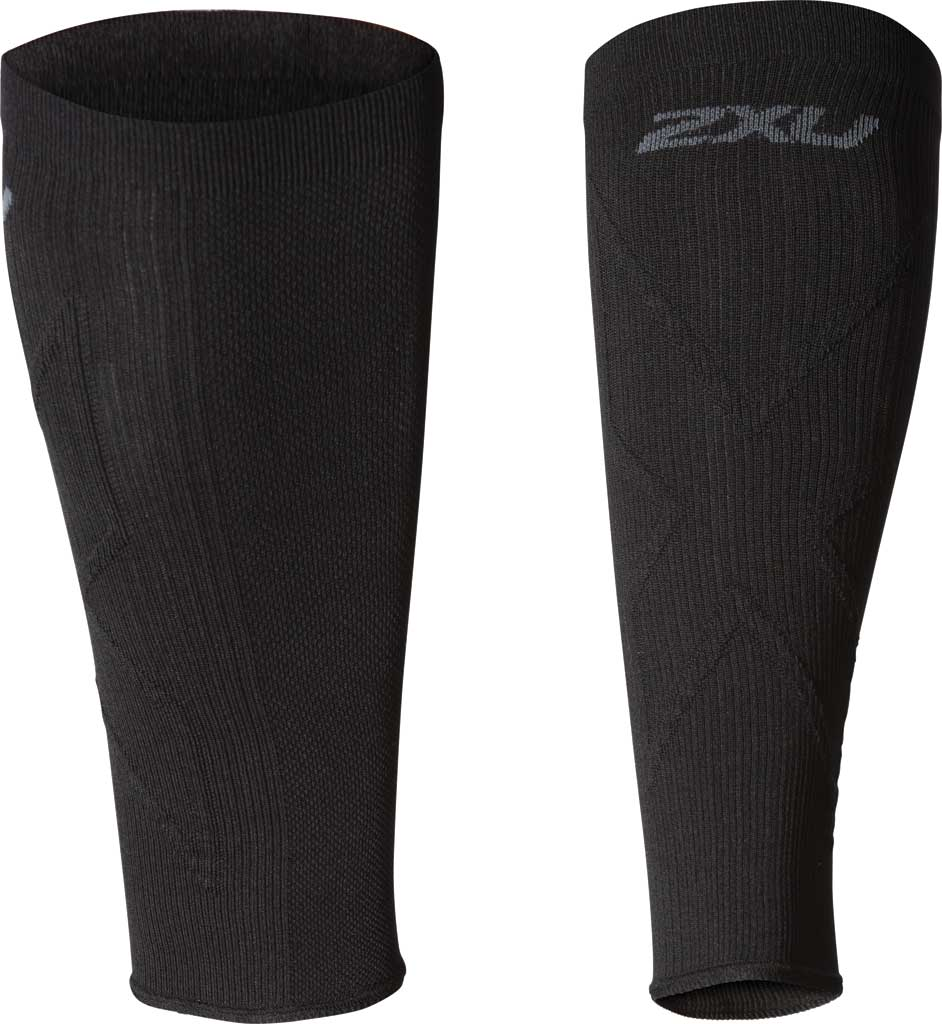 2XU X Compression Calf Sleeve, Black/Black, large, image 1