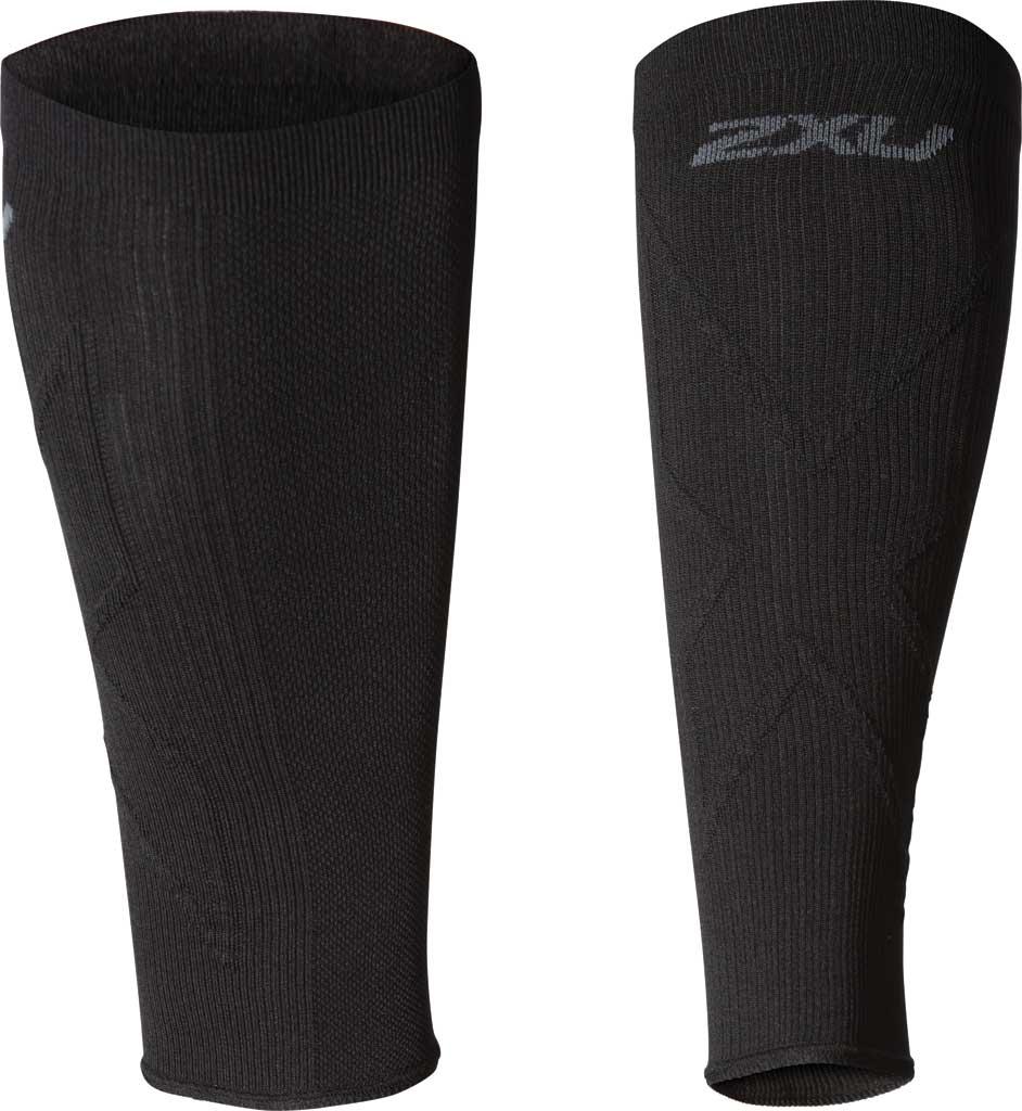 2XU X Compression Calf Sleeve, Black/Black, large, image 1