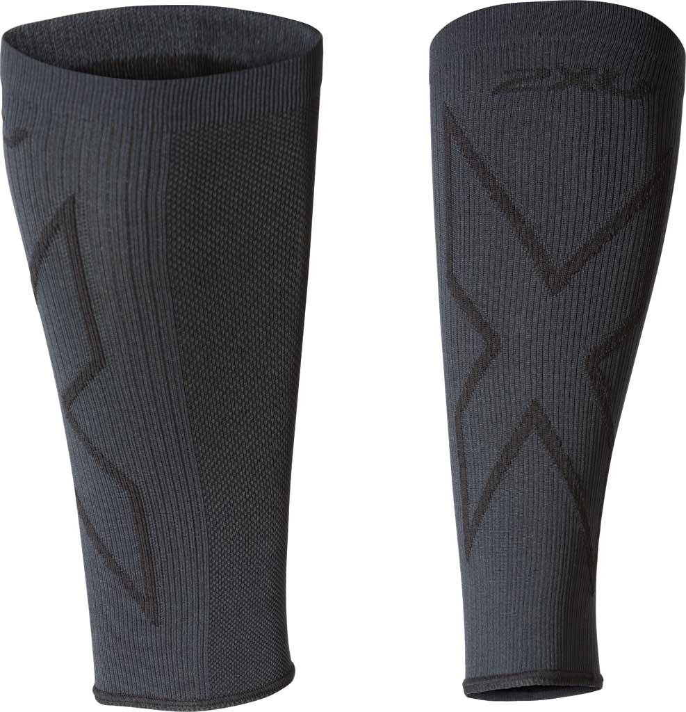 2XU X Compression Calf Sleeve, Titanium/Black, large, image 1
