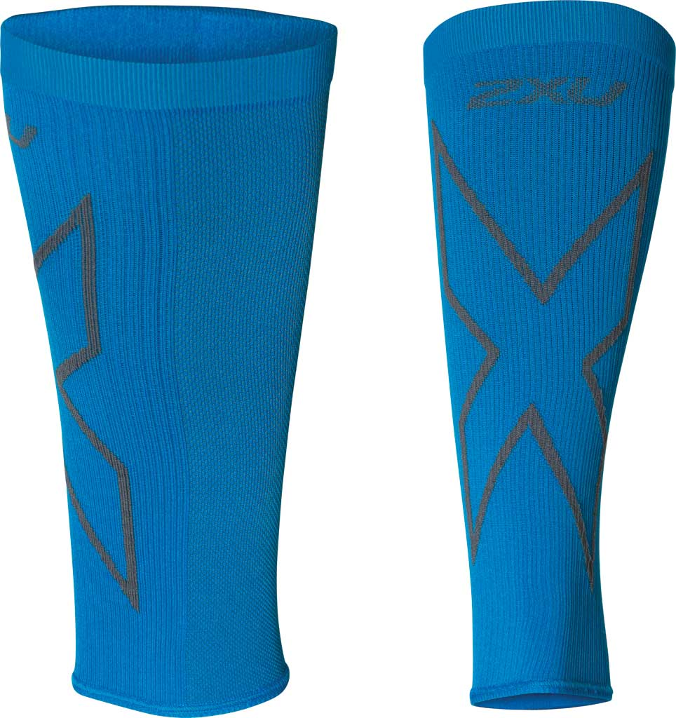 2XU X Compression Calf Sleeve, Vibrant Blue/Grey, large, image 1