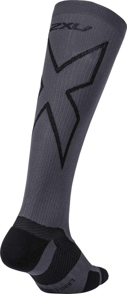 2XU VECTR Light Cushion Full Length Sock, Titanium/Black, large, image 2