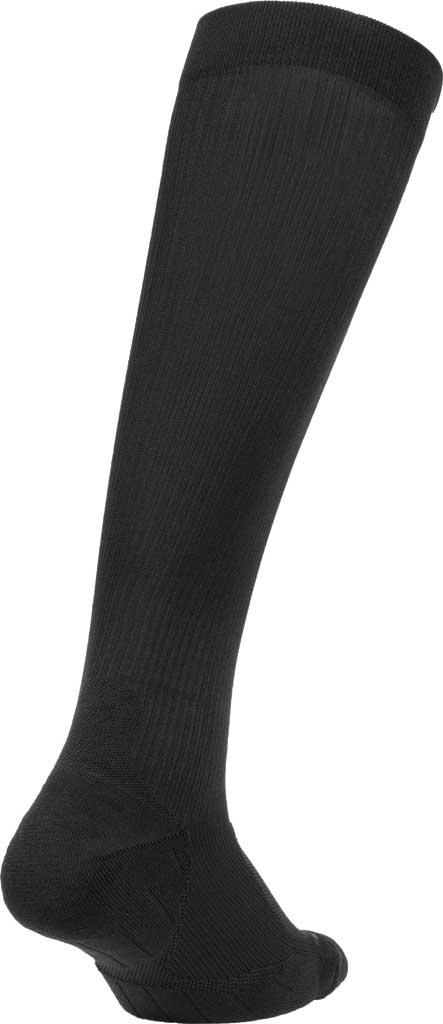 2XU Flight Compression Sock, Black/Black, large, image 2
