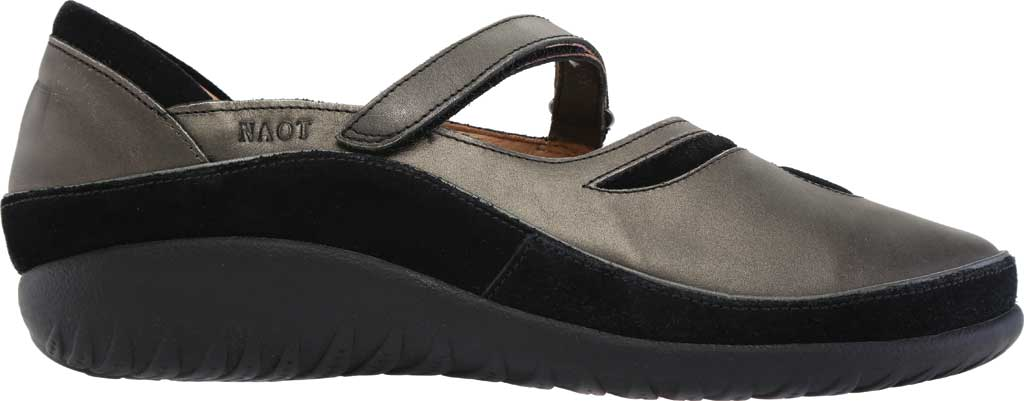 Women's Naot Matai Mary Jane, Metal Leather/Black Suede, large, image 2